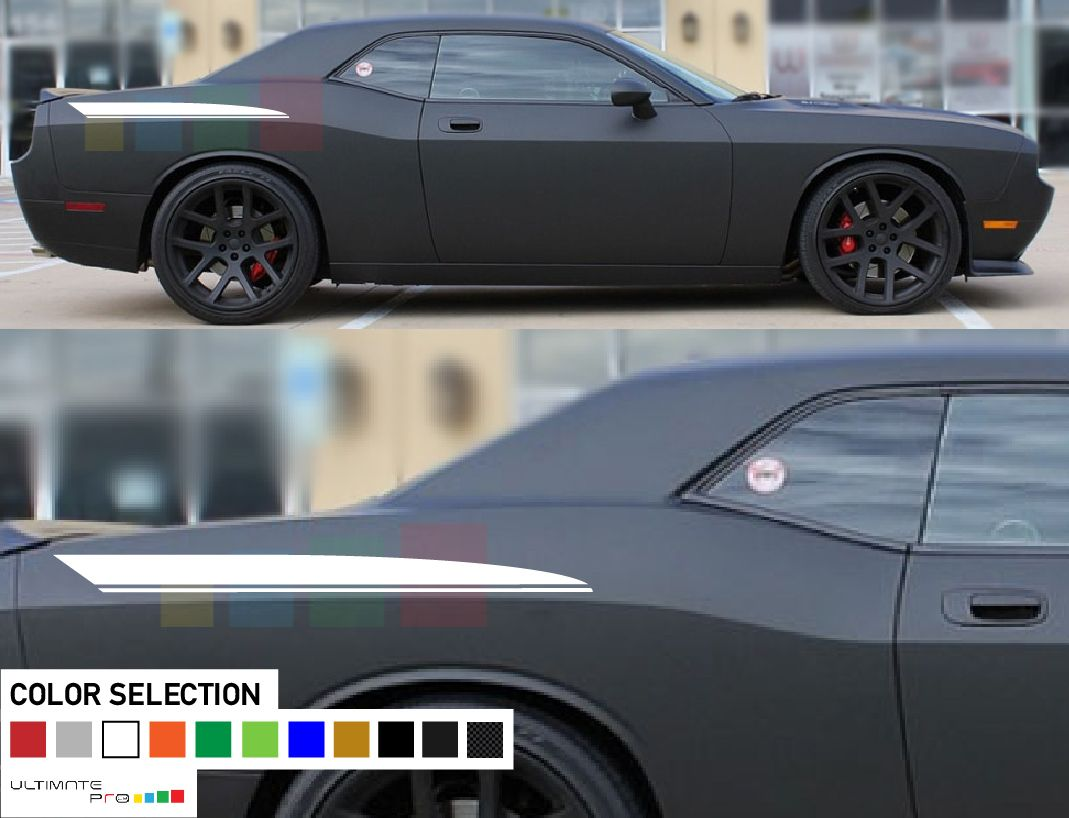 Sticker decal kit compatible with dodge challenger
