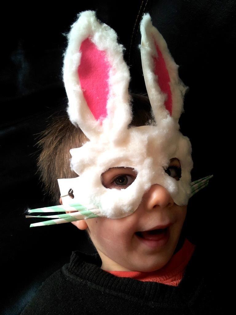 cd01a26f4 DIY Animal Costume   DIY Easter Bunny Mask   DIY Halloween ...