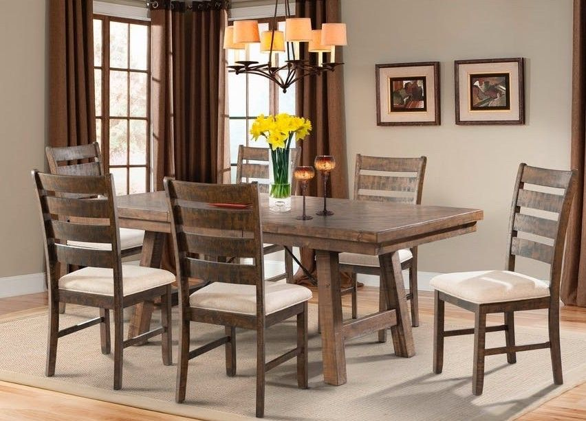 Jax Dining Table In Brown Rustic Dining Room Picket House Furnishings Extension Dining Table