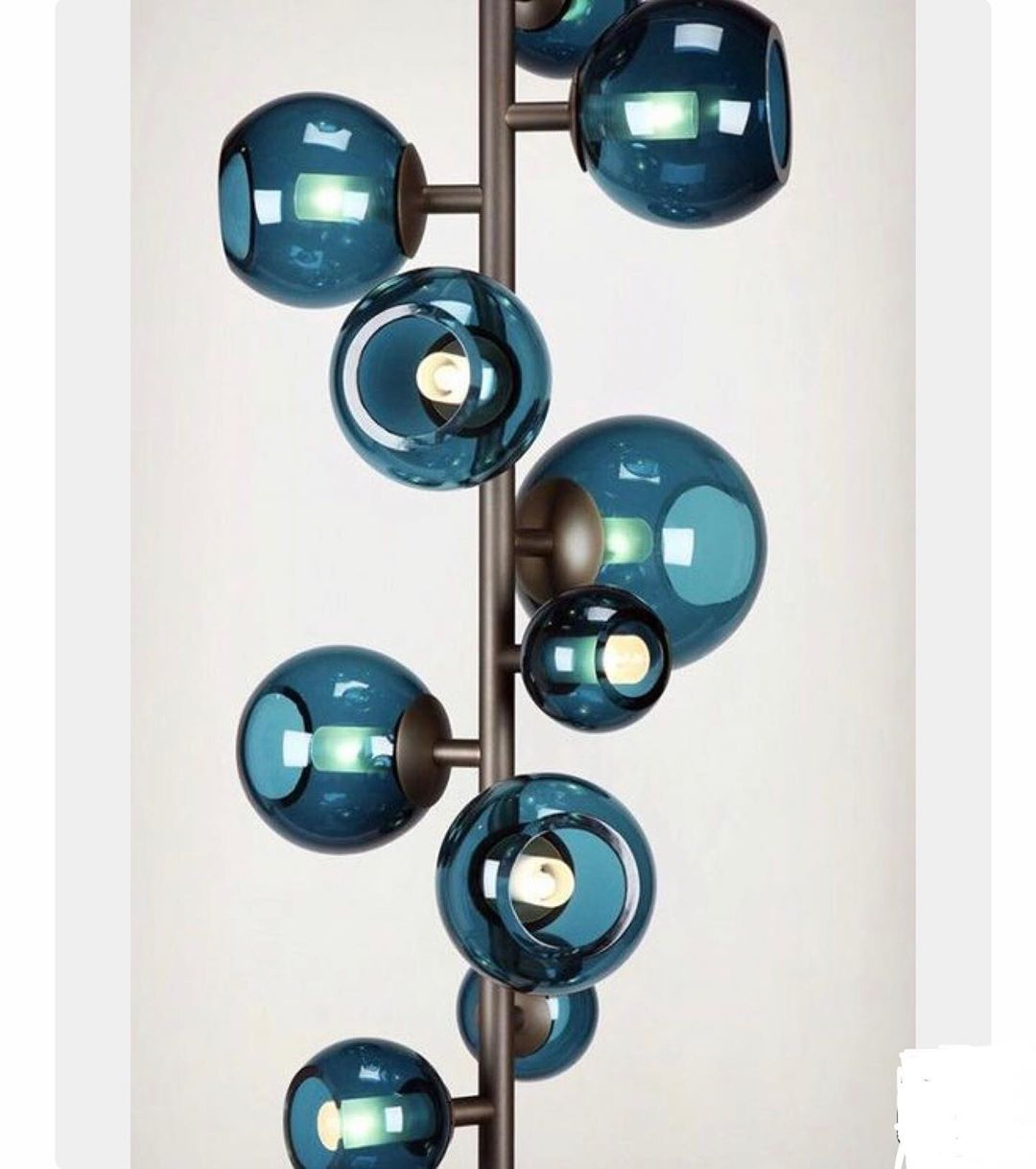 Inscapesdesign Gmail Com Inscapesdesign On Instagram Love This Totem Pole Design With Turquoise Glass G Pole Lamps Modern Floor Lamps Unique Floor Lamps