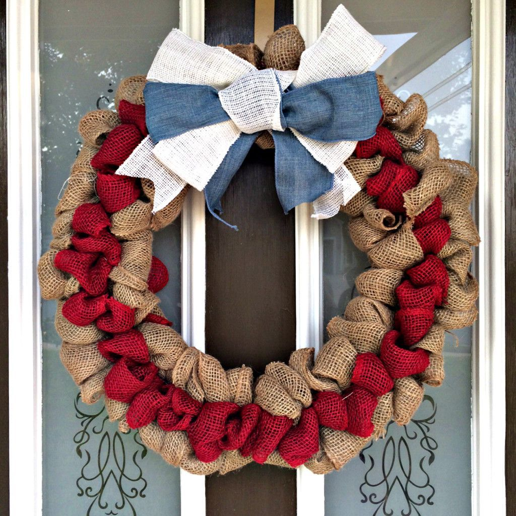 Photo of How To Make A Patriotic Burlap Wreath – Sobremesa Stories You are in the right …