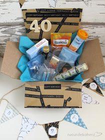 Naturdekoherz Notfallbox Zum 40 Geburtstag Geschenke Zum 40