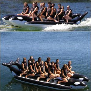 Whale Ride Towable Water Tube 10 Passenger Side By Side