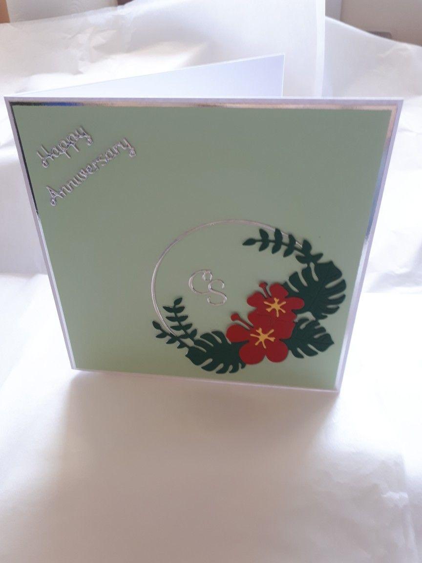 Flower Circle Anniversary Card Uk Magazines Cards Bday
