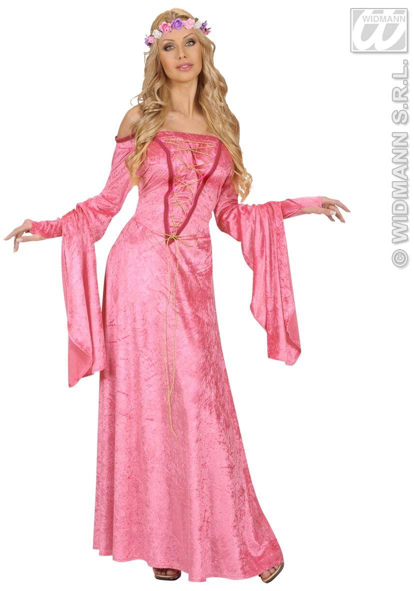 Disfraz de Dama Medieval en Morado o Rosa | Medieval, Disfraces ...