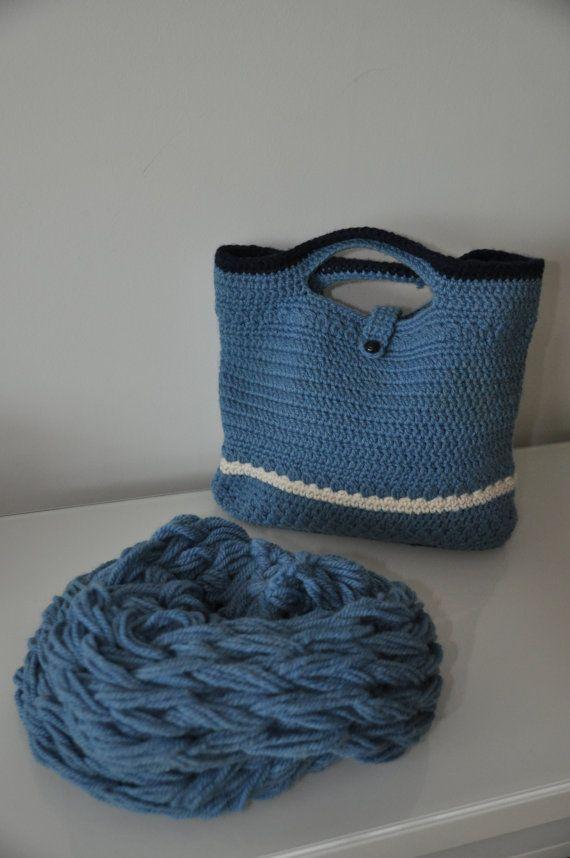 Wolle-Halswärmer und passende Gehäkelte Tasche von ARTinWOOL ...