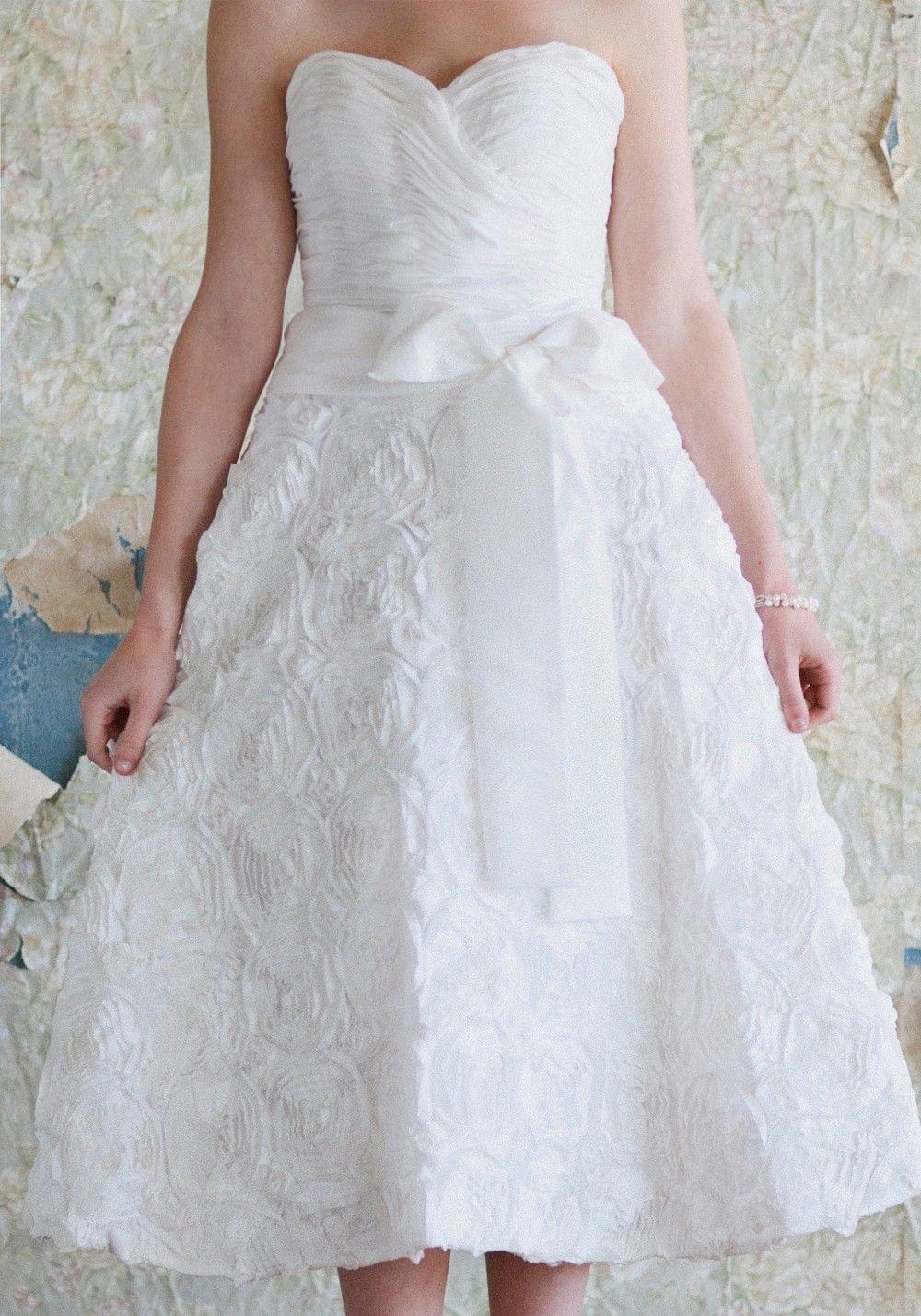 Wedding dresses tea length  Charlotte Rosette Wedding Dress  Tea Length Bridal Dresses And