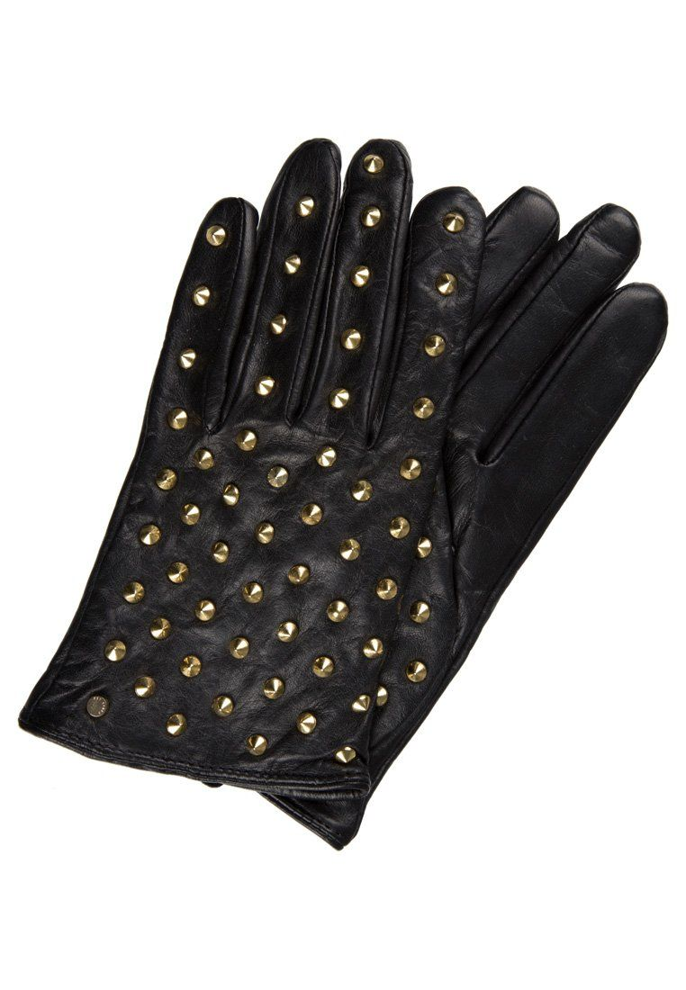 guanti  pelle  black  leather  gold  gloves  c7edef185876