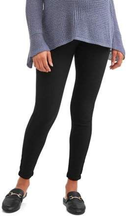 a5081f7d20604 Oh! Mamma Maternity Full Panel Skinny Boyfriend Pant with 5 Pockets and  Roll Cuffs--Available in Plus Size