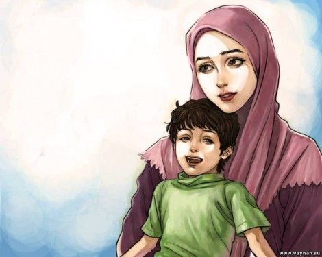 Muslim Mother And Child Mother And Child Anime Baby Islamic Cartoon