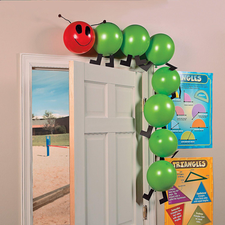 Balloon caterpillar idea this diy caterpillar is fun for for Balloon ideas for kids