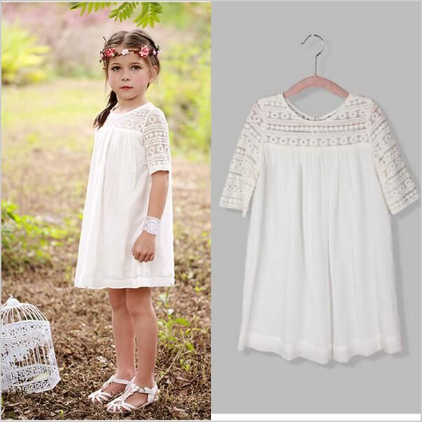 2016 summer lace casual girl dress cute fashion girl party children clothes  vestido meninas baby dress