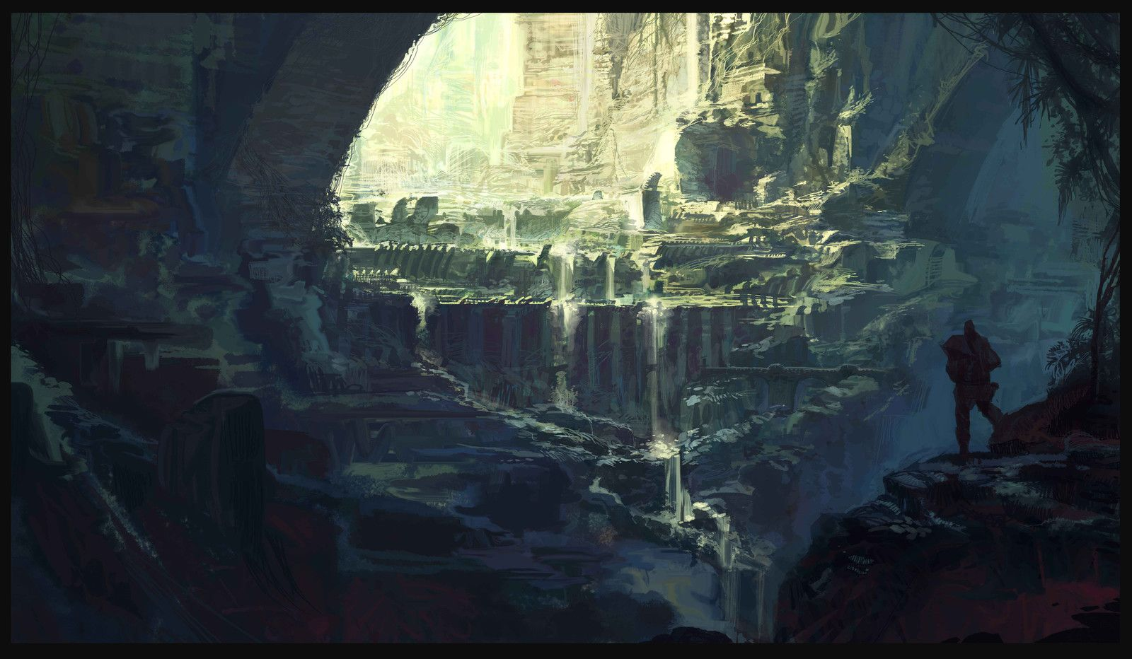 Ancient Temple Fantasy Art