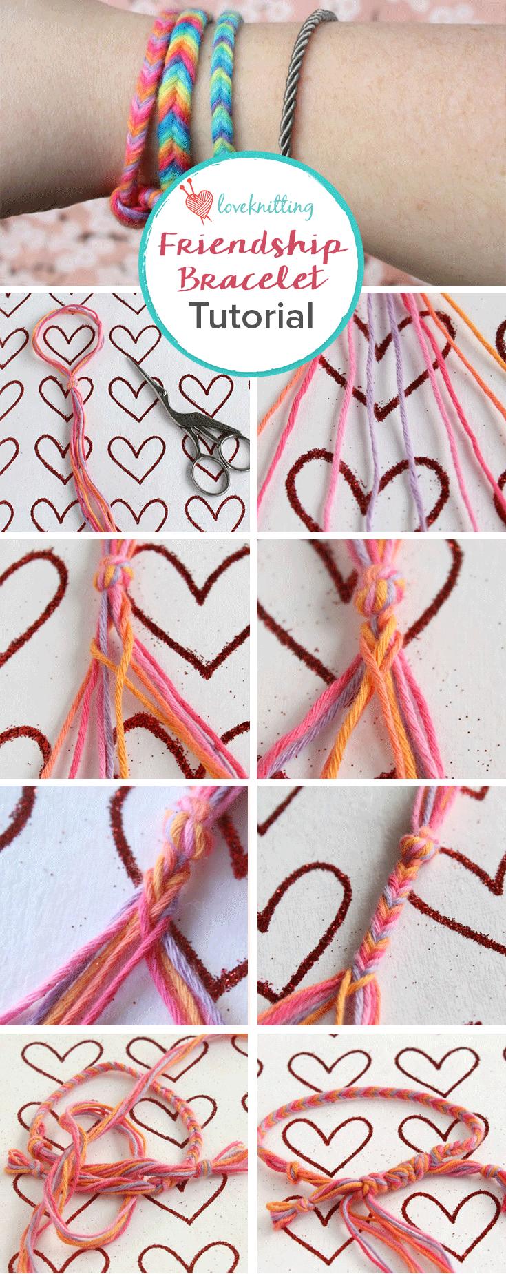 Knit by Bit: free friendship bracelet tutorial