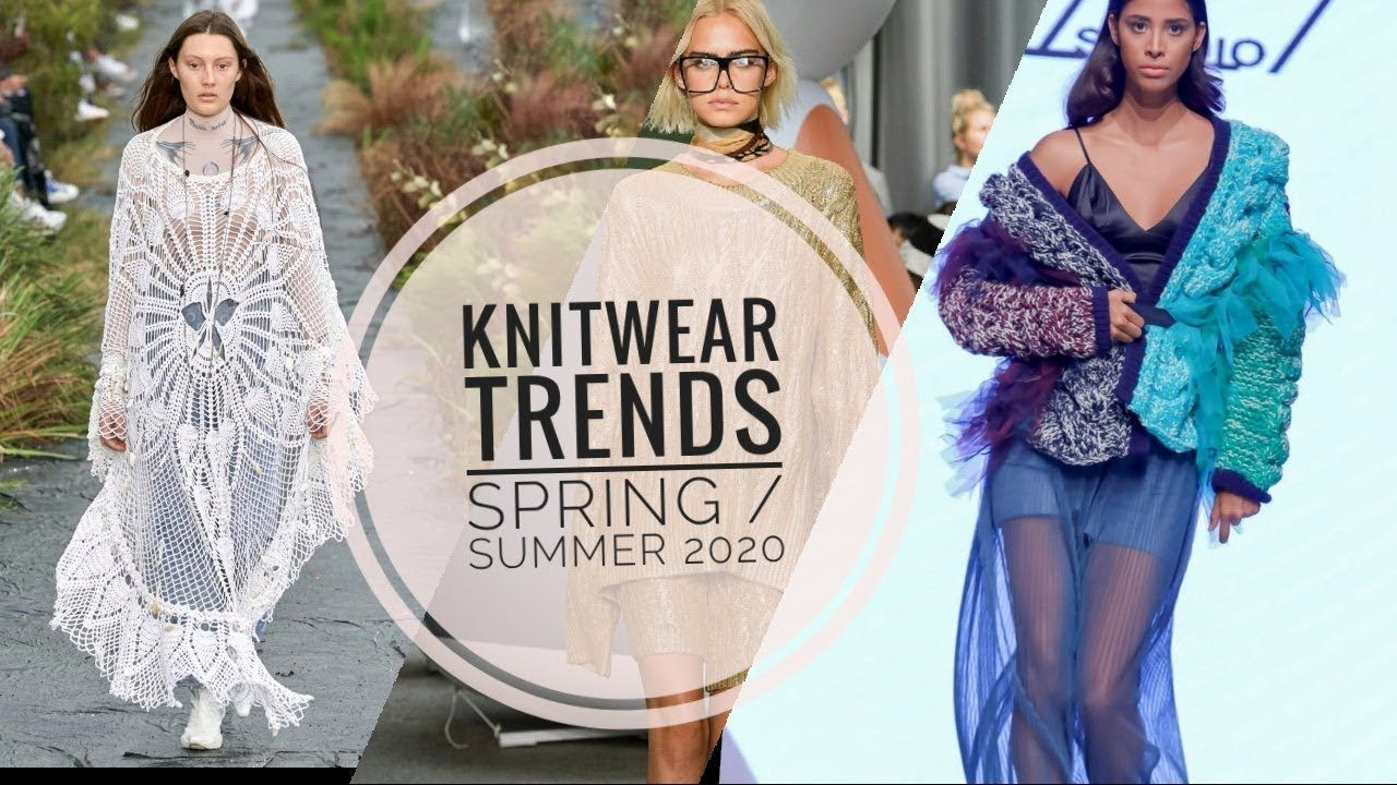 Fashion 2020  SpringSummer 2020 Knitwear Fashion Trends Episode 1 There are lace motif long dresses that women who want to try a different style may prefer The dress mode...