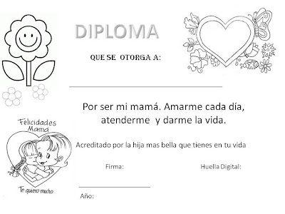 Diploma Para El Día De La Madre Tarjetas Del Día De Las Madres Regalos Del Día De Las Madres Dia De Las Madres