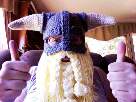 CROCHET PATTERN PDF Skyrim Inspired Viking Helmet With Detachable Beard 3c35b79dbb7