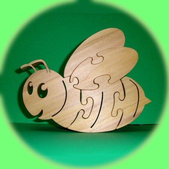BEE  Puzzle Wooden Poplar Hardwood