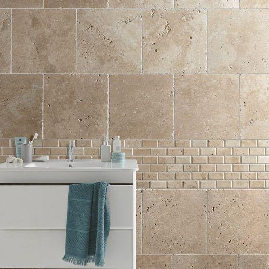 Ceramique Beige Sdb Recherche Google Travertine Bathroom Bathroom Decor Travertine Tile Bathroom