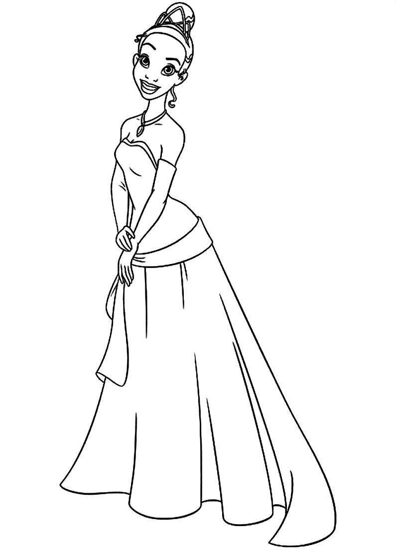 Tiana colouring page Templates