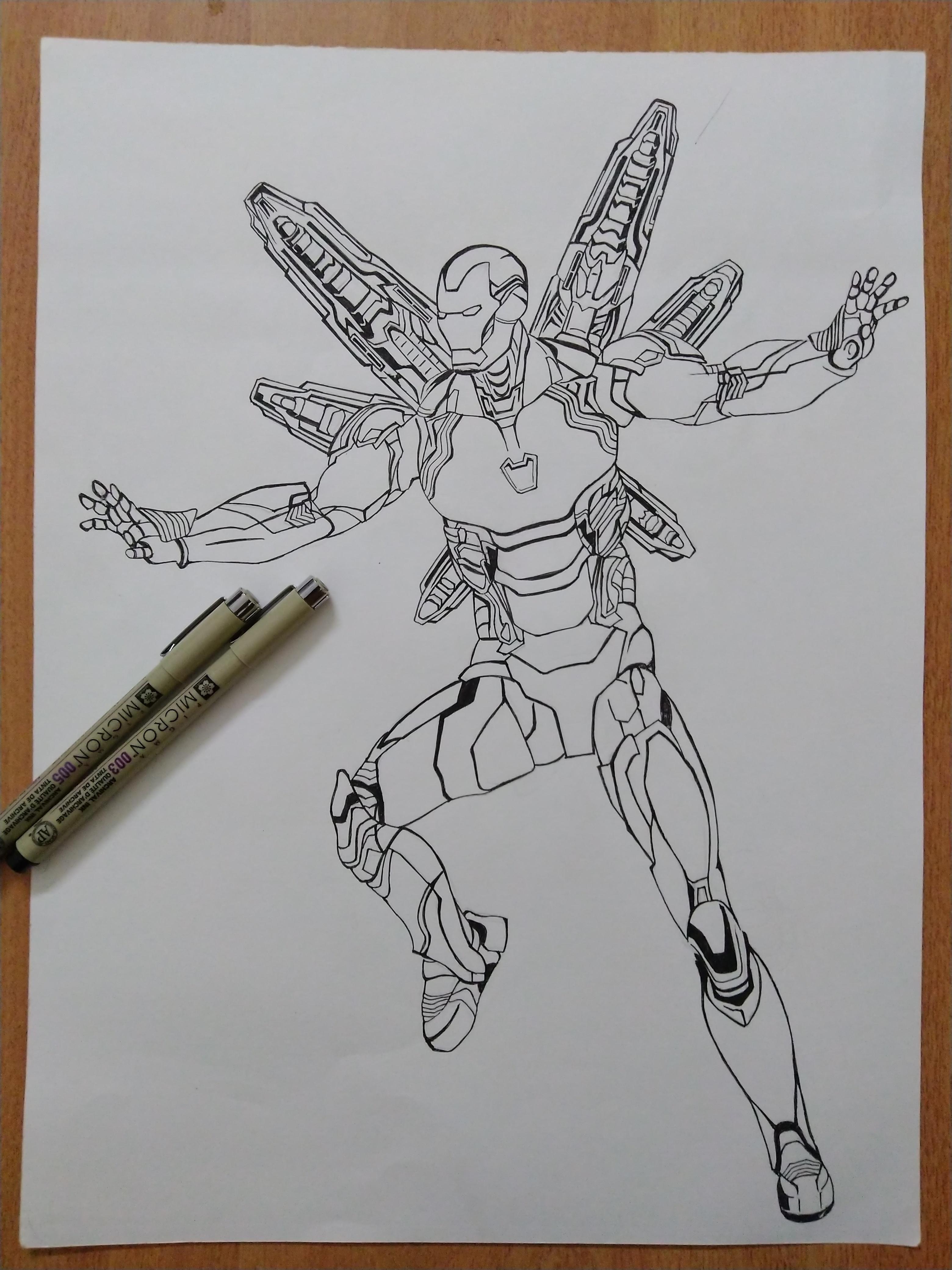 I Drew Iron Man With His Latest Tech Mark 85 Iron Man Drawing Iron Man Art Marvel Drawings