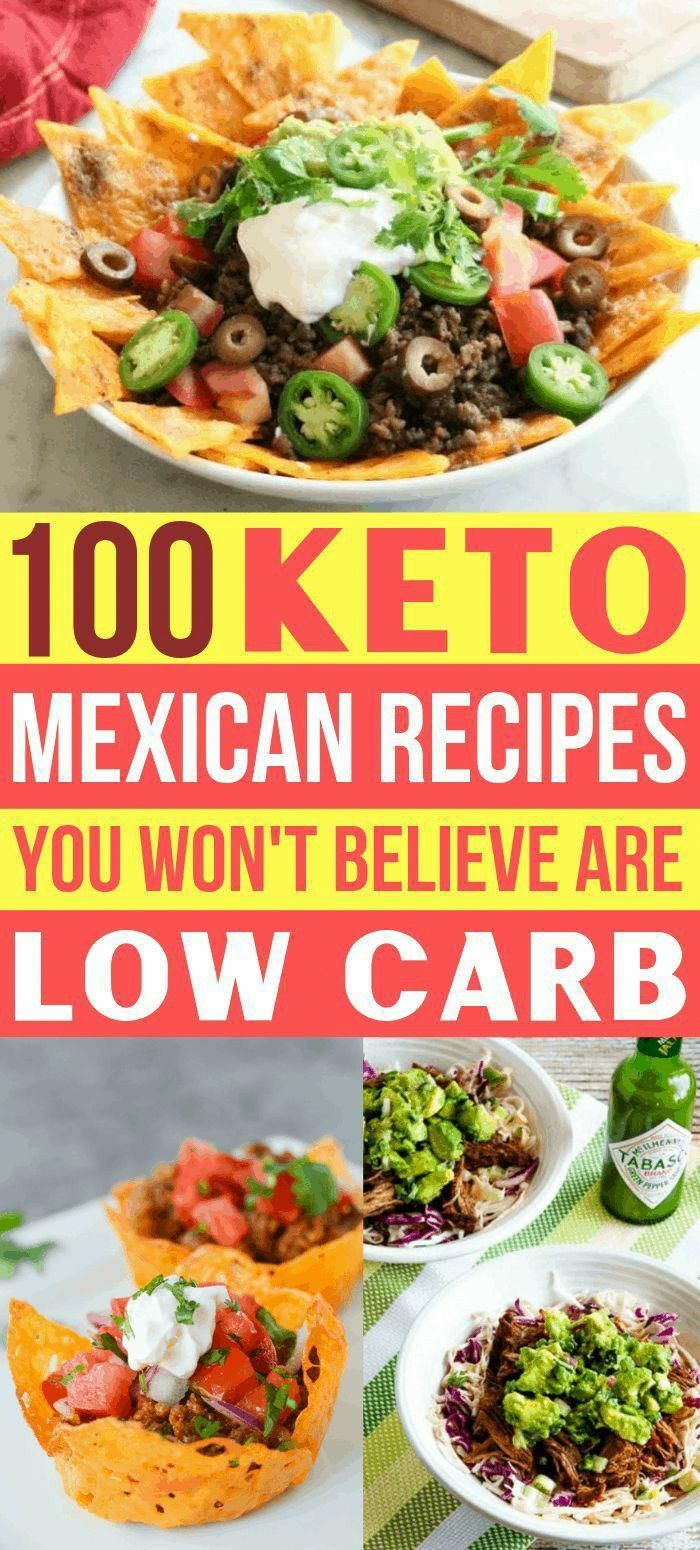 100 Keto Mexican Recipes You Won't Believe Are Low Carb #health #fitness #nutrition #keto #diet #rec...