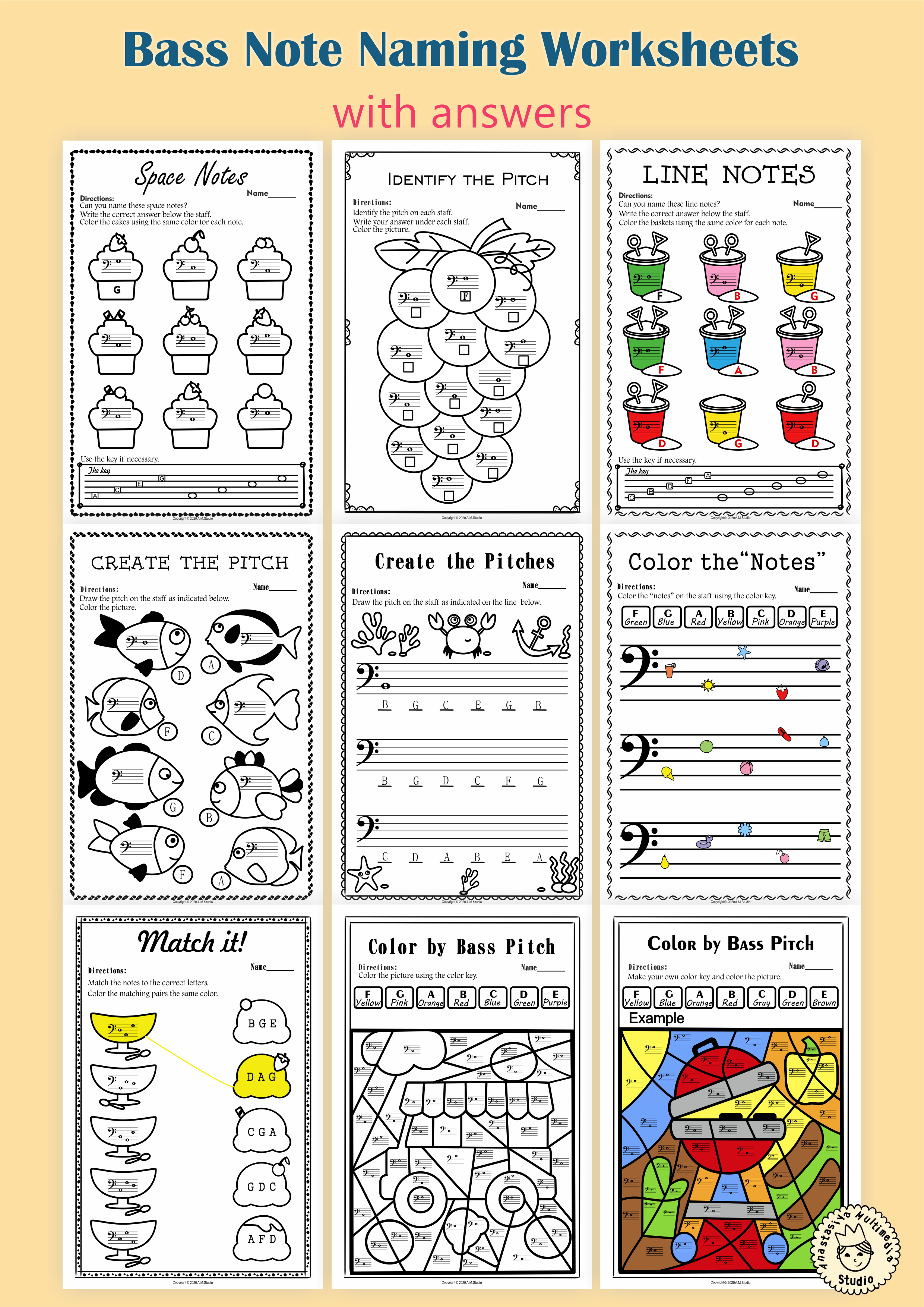 This Set Of 10 Music Worksheets Summer Themed Is Designed