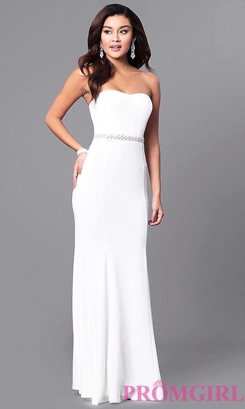 Strapless Sweetheart Long Prom Dress in Ivory White | Dream Wedding ...