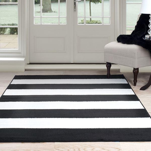 Windsor Home Breton Stripe Area Rug   Black U0026 White 4u0027 X ...