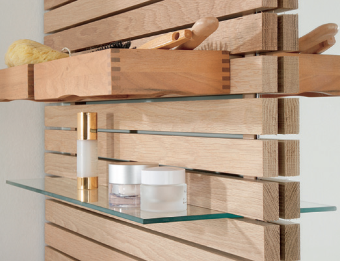 Badezimmer renovieren: Spiegelwand aus Holz | Spiegelwand ...