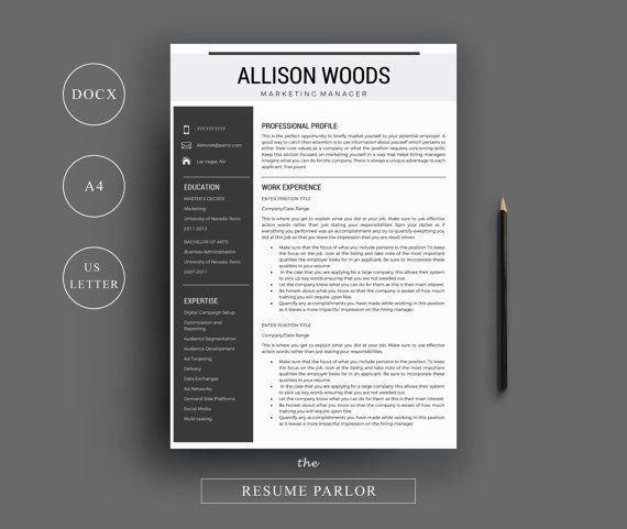 Professional Resume Template/CV Template + Cover Letter + References |  Instant Digital Download | Medical/Nurse/Marketing