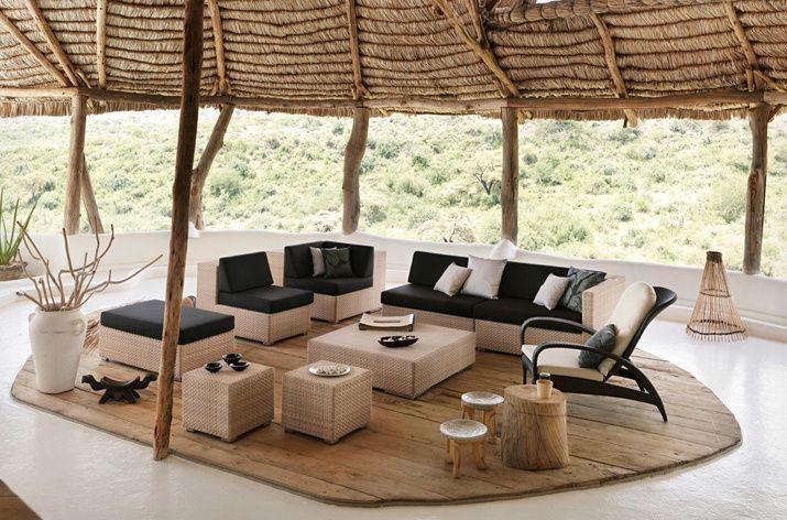 Dedon Lounge Lounge Chair Bleach Dedon Furniture Tropical Outdoor Furniture Modern Patio