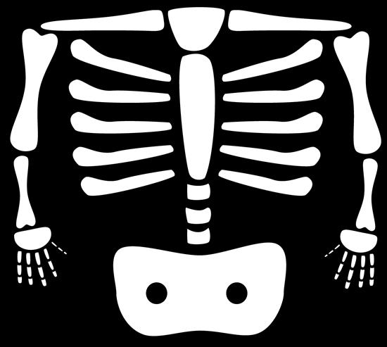 clipart xrays | Xray Clip Art Image - black and white xray ...