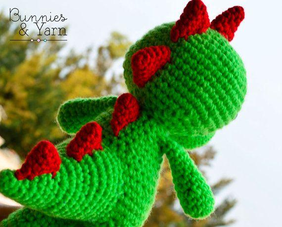 Dinosaurios Amigurumis Patrones Gratis : Patrón de crochet amigurumi tim el dinosaurio por bunniesandyarn