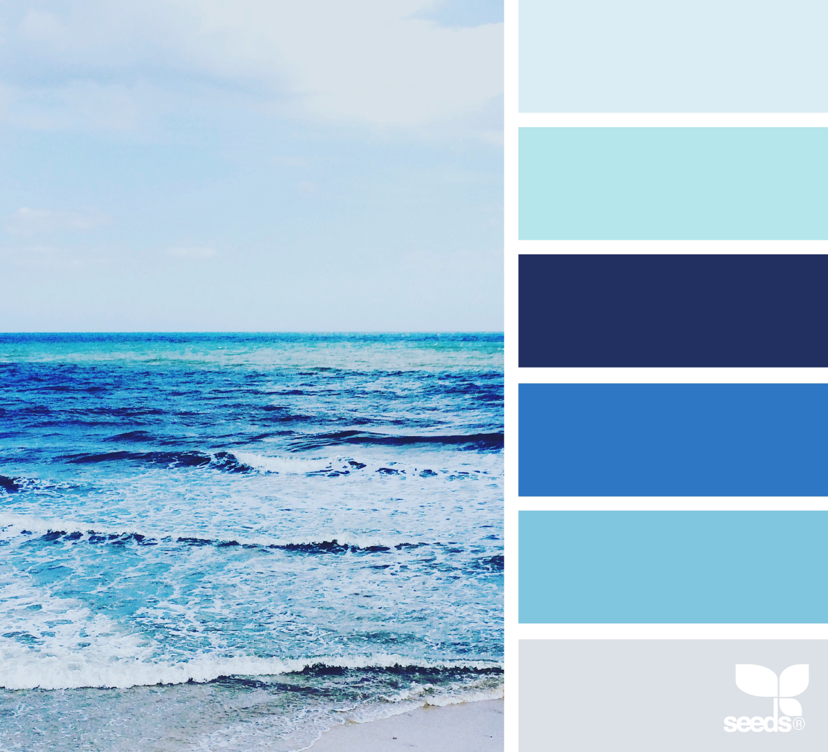 Sea Blues Image Via The Artsy Lens Ocean Color Palette Coastal Palettes