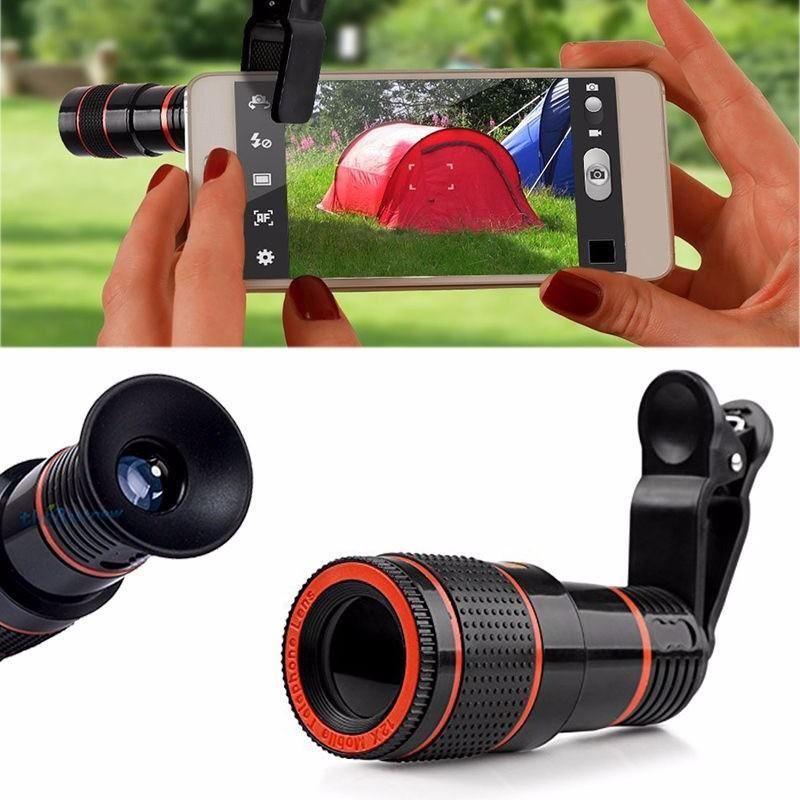 1 12X Zoom Telescope Camera ClipOn Lens For Smartphone