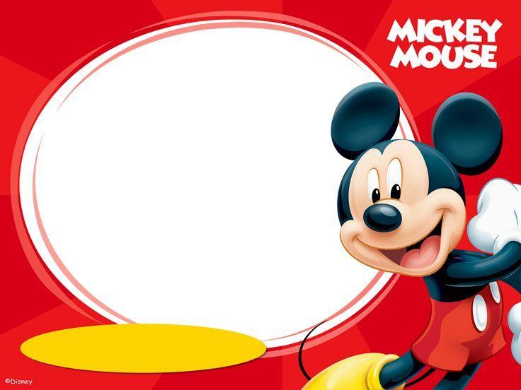 Resultado De Imagen De Tarjetas De Invitacion De Mickey Para