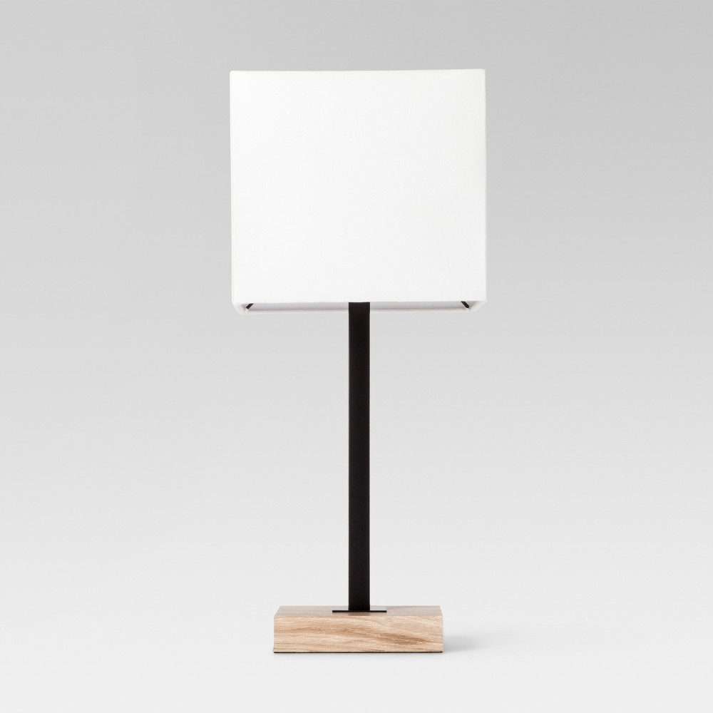 Wood Square Base Table Lamp Black Includes Energy Efficient Light Bulb Project 62 Size Lamp With Energy Efficient Light Bulb Black Table Lamps Table Lamp Wood Black Floor Lamp