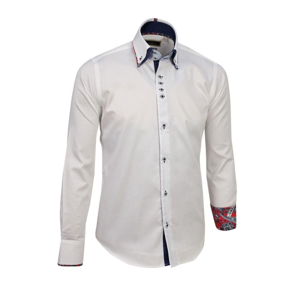 Shop Now Italian Designer Tonelli Double Collar White Dress Shirts