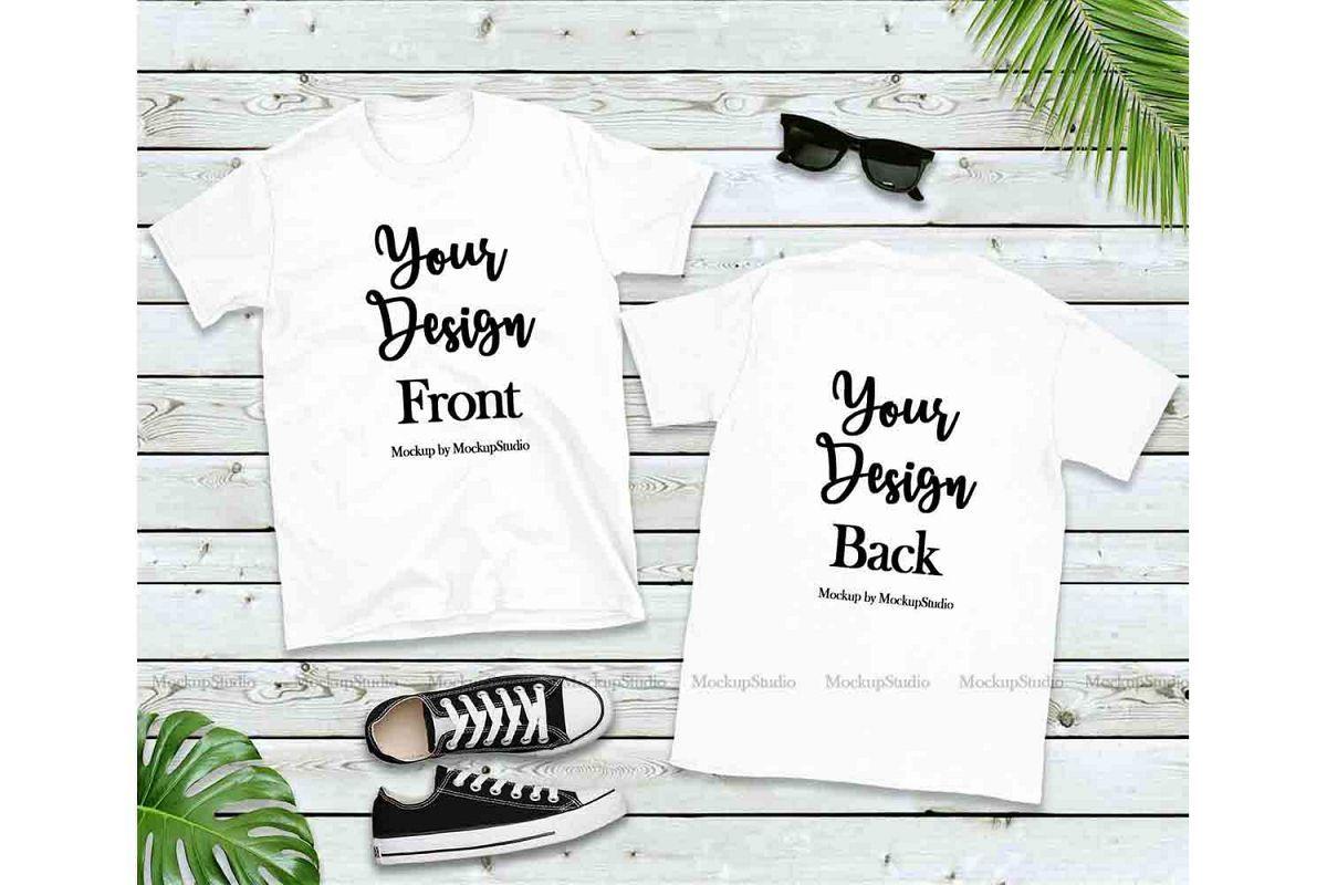 Download Front Back White Tshirt Mockup Gildan 64000 Shirt Mock Up 211667 Clothing Design Bundles Mockup Free Psd Free Psd Mockups Templates Psd Mockup Template