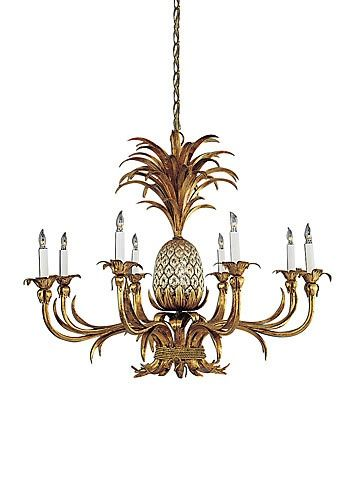 Wildwood Lamps Chandelier - Pineapple Chandelier 8 bulbs - Design ...