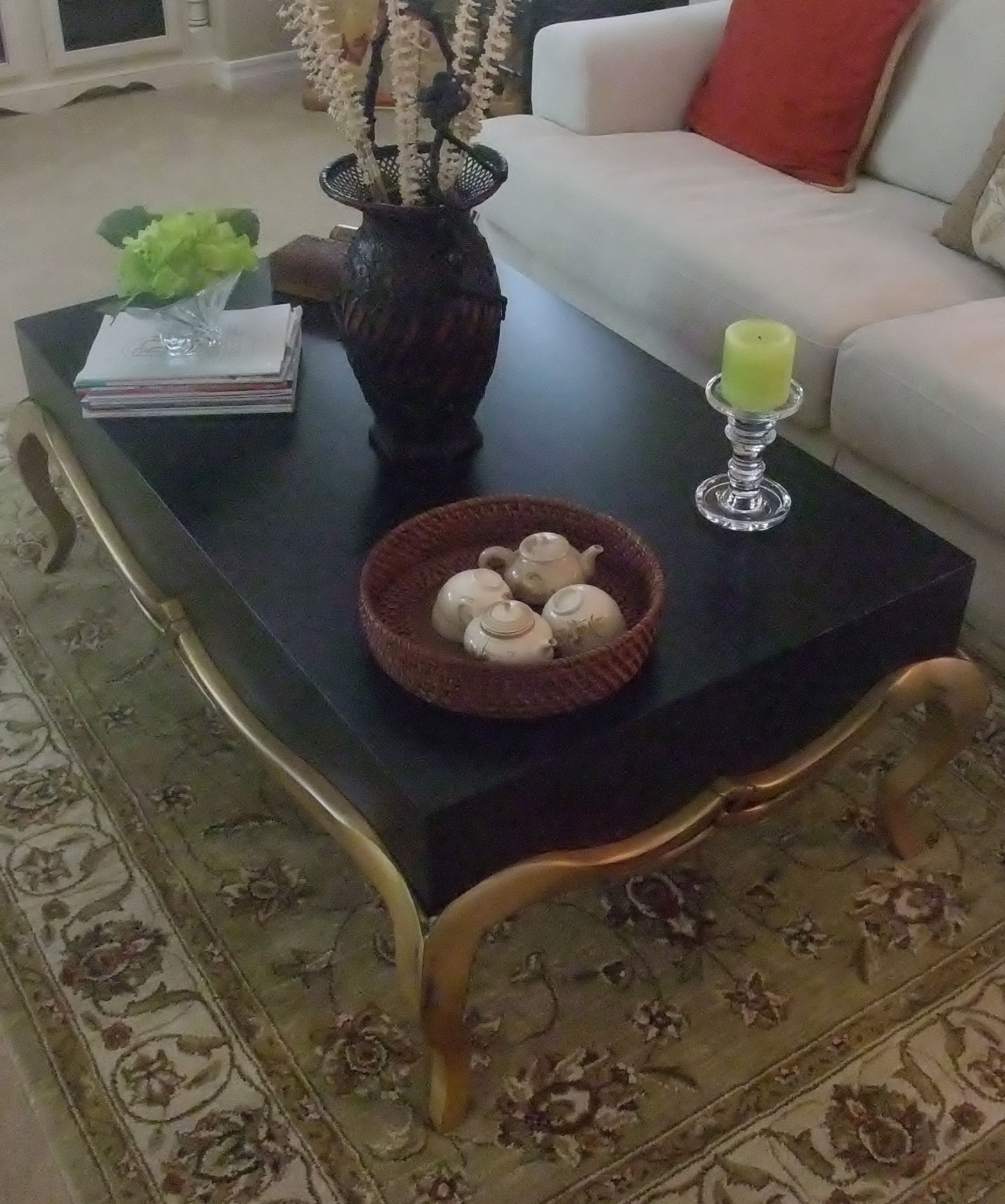 Our dear friend had Russ build her an Asian style coffee table