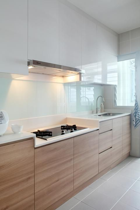 Hdb 4 Room Kitchen Design. This 4 room HDB kitchen is in line with the clean and understated concept  of