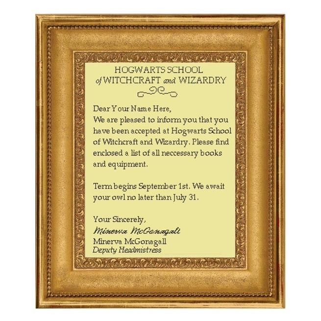 Personalized Letter of Acceptance to Hogwarts School of Witchcraft - acceptance letters pdf