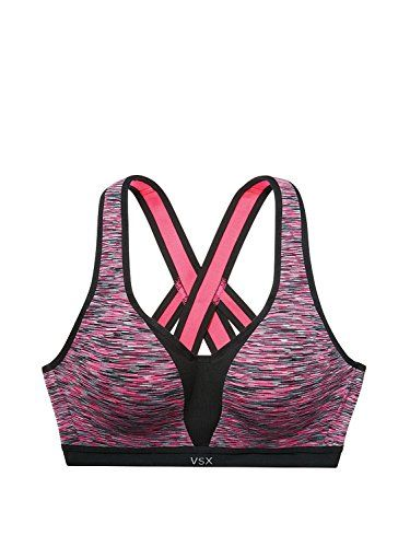 93a47267efbb8 Victorias Secret Incredible Strappy Back Sports Bra 34B Pink Spacedye    Click for Special Deals  VictoriasSecretSportsBra
