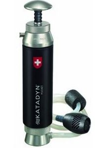 **review of Katadyn Pocket Microfilter for water; Steripen might be a better choice for me**