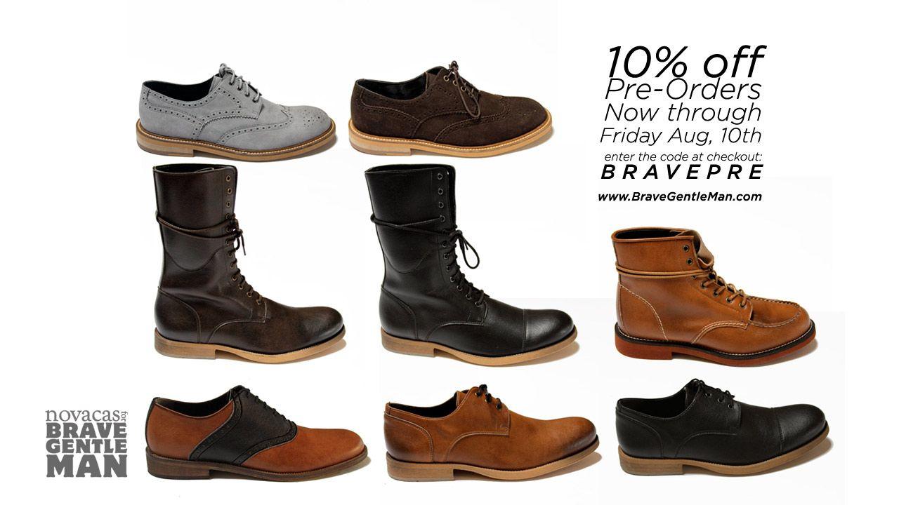 10% Off Pre-Orders on new Novacas x Brave GentleMan