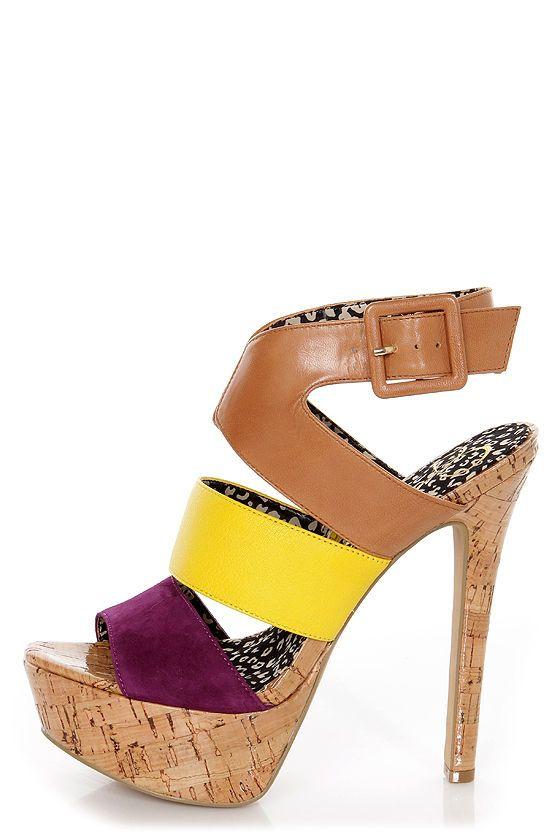 Jessica Simpson Ericka Wisteria Combo Platform Sandals - $99.00