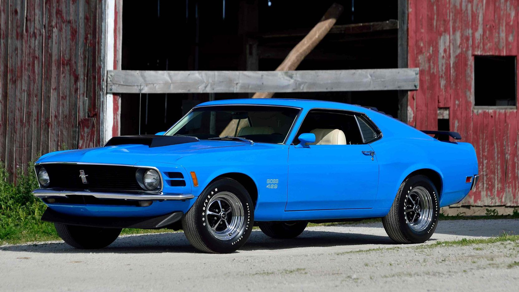 1970 Ford Mustang Boss 429 In Grabber Blue Kk 2161 Ford Mustang Boss Mustang Boss Ford Mustang