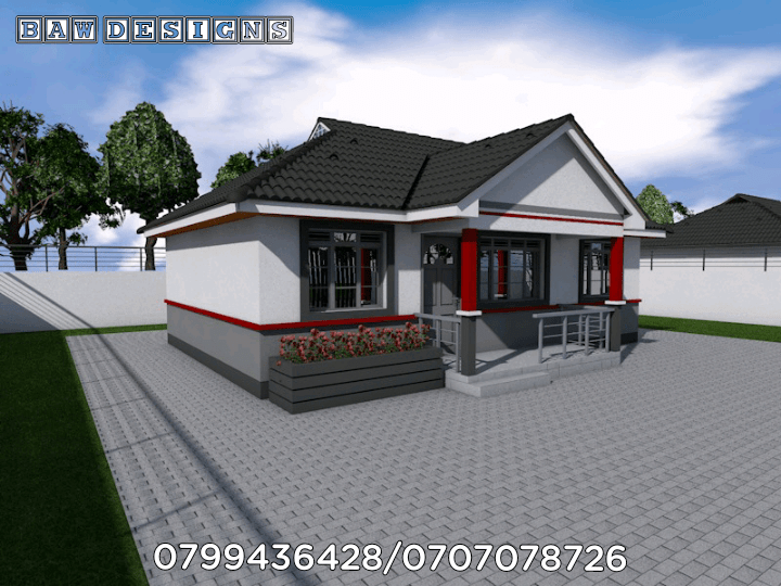 Simple And Beautiful 2 Bedroom Master Ensuite House Plan Muthurwa Com In 2021 Bedroom House Plans 2 Bedroom House Plans House Plans